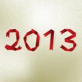 De nieuwe kaart van de het jaargroet van 2013. + EPS8 Royalty-vrije Stock Foto