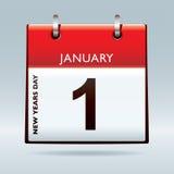 De nieuwe kalender van de jarenvooravond Royalty-vrije Stock Afbeeldingen