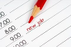 De nieuwe kalender van het baanconcept Royalty-vrije Stock Fotografie
