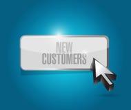 de nieuwe klanten knopen tekenconcept dicht stock illustratie