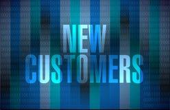 de nieuwe klanten ondertekenen conceptenillustratie vector illustratie