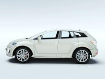 De nieuwe moderne 3d auto, geeft terug. Royalty-vrije Stock Foto's