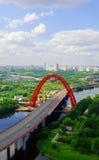 De nieuwe moderne brug Royalty-vrije Stock Afbeelding