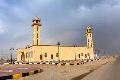 De nieuwe moskee in Afif, Saudi-Arabië stock afbeelding