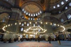 De Nieuwe Moskee (Yeni Cami), Istanboel, Turkije Stock Afbeeldingen