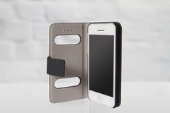 De nieuwe realistische mobiele stijl van telefoonsmartphone iphon Stock Afbeelding