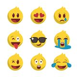 De nieuwe reeks van het emojipictogram vector illustratie