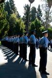 De nieuwe rekruten van de aandacht - LAPD Stock Foto