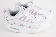 De nieuwe schoenen van gezondheidssporten Stock Afbeeldingen