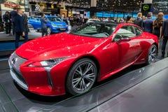 De nieuwe sportwagen van Lexus LC500h Stock Foto's