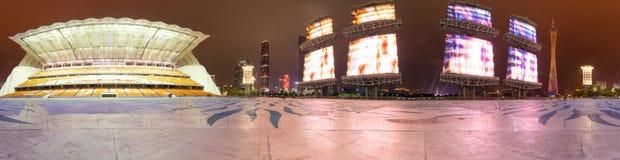 De Nieuwe Stad van Guangzhouzhujiang stock foto's