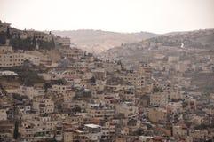 De nieuwe stad van Jeruzalem op de oude heuvels Stock Foto