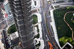 De nieuwe stad van Shanghai pudong stock foto's