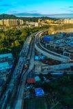 De nieuwe Stad van Taipeh, Taiwan - November 22, 2016: Nieuwe Tollways constr Royalty-vrije Stock Foto's