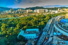 De nieuwe Stad van Taipeh, Taiwan - November 22, 2016: Nieuwe Tollways constr Stock Fotografie