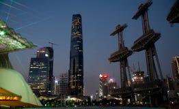 De nieuwe stad van Zhujiang royalty-vrije stock foto's