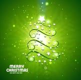 De nieuwe ster als achtergrond huwt Kerstmis Royalty-vrije Stock Fotografie