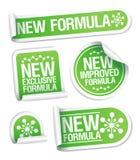 De nieuwe stickers van de Formule. vector illustratie