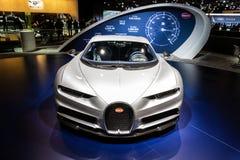De nieuwe super sportwagen van Bugatti Chiron stock foto's