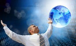 De nieuwe technologie van computerInternet Stock Foto's