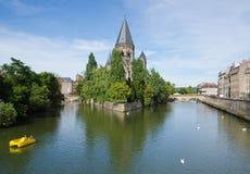 De Nieuwe Tempel, Metz stock afbeelding