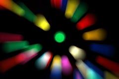 De nieuwe tendens van 2019 van kleurrijke die bokeh van de technostijl voor Kerstmis of nieuw jaarconcept wordt gebruikt stock afbeeldingen