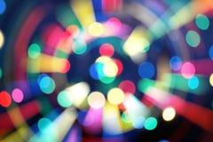De nieuwe tendens van 2019 van kleurrijke die bokeh van de technostijl voor Kerstmis of nieuw jaarconcept wordt gebruikt royalty-vrije stock afbeelding