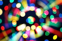 De nieuwe tendens van 2019 van kleurrijke die bokeh van de technostijl voor Kerstmis of nieuw jaarconcept wordt gebruikt royalty-vrije stock foto's