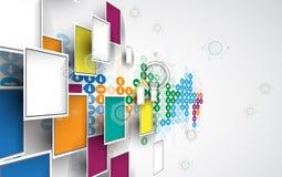 De nieuwe toekomstige abstracte achtergrond van het technologieconcept royalty-vrije illustratie