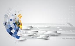 De nieuwe toekomstige abstracte achtergrond van het technologieconcept vector illustratie