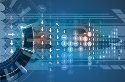 De nieuwe toekomstige abstracte achtergrond van het technologieconcept stock illustratie