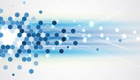 De nieuwe toekomstige abstracte achtergrond van het technologieconcept Stock Afbeeldingen