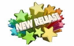 De nieuwe Update van het de Aanhangwagenproduct van de Versiefilm adverteert Sterren stock illustratie