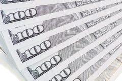 De nieuwe V.S. 100 dollarrekening Royalty-vrije Stock Foto