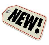 De nieuwe van de het Productaankomst van de Prijskaartje Nieuwste Koopwaar Speciale Overeenkomst Royalty-vrije Stock Afbeelding