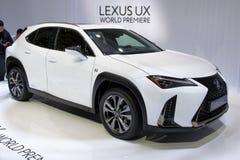 De nieuwe van 2018 kleine SUV auto van Lexus UX 250h Stock Afbeeldingen