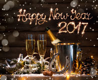 De nieuwe viering van de jarenvooravond Stock Afbeeldingen