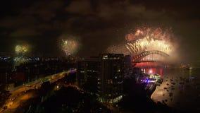 De nieuwe viering van de jaar` s vooravond in Australië stock footage