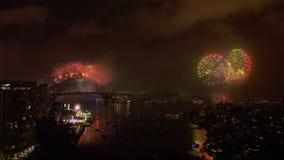 De nieuwe viering van de jaar` s vooravond in Sydney stock video