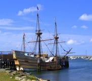 De Nieuwe Wereld - Replica van Mayflower Royalty-vrije Stock Foto