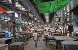 De nieuwe winkels van de Markt - Kolkata (Calcutta, India, Azië) Stock Afbeelding