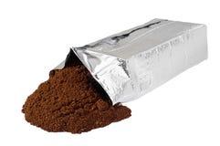 De nieuwe zak van de koffie vacuümfolie Stock Foto's