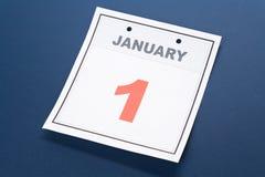De Nieuwjaarsdag van de kalender Stock Afbeelding