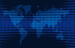 De nieuwsachtergrond, brekend nieuws, vector infographic met nieuws als thema heeft kaart van de wereld Stock Foto