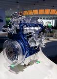 De nieuwste automotor op auto toont tribune Royalty-vrije Stock Fotografie
