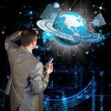De nieuwste technologieën van Internet Stock Afbeeldingen