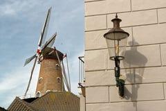 De Nijverheid Windmill在Ravenstein,荷兰 免版税库存图片