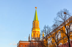 De Nikolskaya-Toren in Moskou Royalty-vrije Stock Foto's