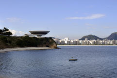 De Niterói (MAC) Museu de Arte Contemporânea lizenzfreies stockbild