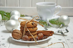 De Noël toujours durée avec des biscuits images stock